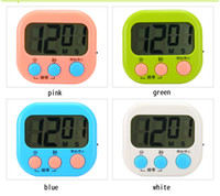 big kitchen clocks - Portable kitchen timer clock stopwatch big screen clock timer reminder student