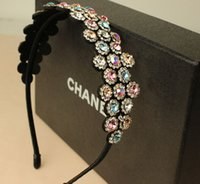 Wholesale New Korean Cool Head Hoop Luxury Ladies Crystal Snowflake Modeling Hair Bands Rhinestone Iron Broadside Headbands For Women