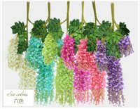 Wholesale Upscale Artificial Silk Flower Vine Wisteria Garland Craft Ornament For Wedding Party Decorations