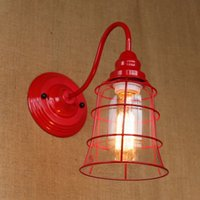 art glass lamp shade - Replica designer fashional style mini red colour glass shade Wall Light lamp Sconce Lamp porch light fixtures