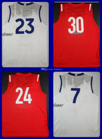 Wholesale 2016 All Star jerseys White Jersey Basketball Jerseys Top Quality Drop Shipping Accept Mixed order