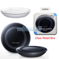 Wholesale 1 Version S6 Qi Wireless Charging Pad Charger Charge Plate For Samsung S6 Edge S7 S7 edge Note