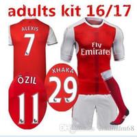 arsenal sleeveless - 2016 Arsenal kit socks Jerseys shirts WILSHERE OZIL WALCOTT RAMSEY ALEXIS price Jersey home and away AAA