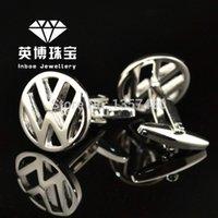 auto cufflinks - INBOE Jewellery car mark logo brand auto sign cufflinks male French shirt cuff links for men s Jewelry Gift