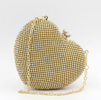 ban bags - 2016 new European and American explosion models high end heart shaped evening bag diamond crystal Clutch evening bag ban