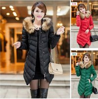 Wholesale 2016 new fashion winter women s jacket outerwear jacket with large collar large size M XXXL thickening long coat