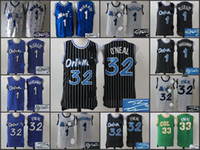 Wholesale A1 Top Quality new arrival Tracy McGrady Anfernee Hardaway Shaquille ONeal signed retro throwback jersey