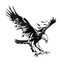 Wholesale Funny Eagle Pattern Reflective Material Car Stickers Car Engine Hood Decal Emblem cool car styling hot selling
