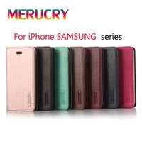 Wholesale For Galaxy S7 edge Case New fashion Mercury Flip PU Leather Cases Soft TPU inside Back case cover For iphone S plus Samsung S6 EDGE plus