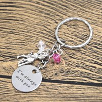 baby boy bangles - 12pcs Baby Deer Fawn Keyring I m Always With You Deer Father Daughter Mother Daughter bangles keychain
