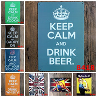 antique coffee cans - 2016 cm keep calm we can do it Tin Sign Coffee Shop Bar Restaurant Wall Art decoration Bar Metal Paintings