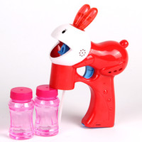 Wholesale Flashing Bubble Gun Light Up Electric Rabbit Blower Blaster With LED Lights