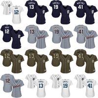 alex tiger - women Victor Martinez Anthony Gose Alex Avila Anibal Sanchez Detroit Tigers Baseball Jersey stitched size S XL