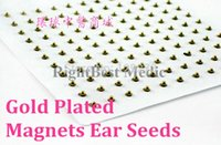 acupressure ear seeds - Magnets Gold Plated Ear Seeds Sticker Paste Bean Acupressure massage seed for Acupoint Therapy Auricular Acupuncture