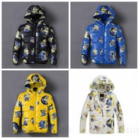 Wholesale Kids Minion Winter Down Coats Boys Despicable Me Jacket Minions Cotton Padded Coat Winter Hooded Jacket Minion Zipper Hoodie Outwear D54