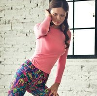Wholesale Rio2016 Premium Early Autumn Women Running Fitness Clothing Yoga Clothes Slim Body Two Pieces Suits