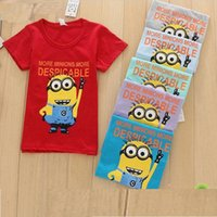 baby garment manufacturers - Baby Girl Boy T shirts Manufacturers Selling Minion Children s Short sleeved Summer Unlined Upper Garment Tshirt Tops XF