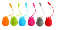Wholesale Tea Strainers Owl Tea Strainer Infuser Loose Leaf Tea Maker kitchen Accessory By DHL