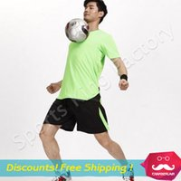Wholesale Football Suit no brand New Men Women couple models short sleeved football kit competition training suit