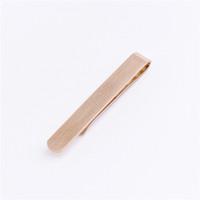 Wholesale 2016 Young Men Fashionable Design Rose Gold Tie Clip clasp Bar Pins