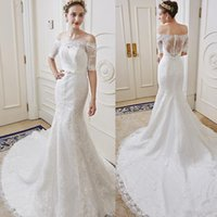 beautiful new york - Sleeves Wedding Dresses Bridal Plus Sizes Backless Wedding Gowns Mermaid Stella York Scoop Hollow new design beautiful fashion style