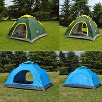 best tents - Best Oxford Cloth Backpacking Tents Quick Automatic Opening Portable Outdoor Double Doors Camping Tents Shelters for Hiking Fishing