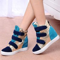 Wholesale 2016 Spring And Autumn Height Increasing Women s Casual Shoes Ladies New Wedge Shoes Boots Heels Hidden EUR Size