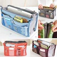 Wholesale women storage cosmetic bag Makeup Bag Purse MP3 Mp4 Phone Travel Insert Handbag Organizer fashion bag in bag Sundry Zipper Bag