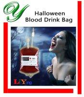 beer bottle labels - Bloody Bag fruit juice drink container label clips ml Halloween party cups beer mugs vampire decoration outdoors plastic bottle drinkware