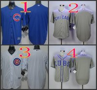 Wholesale Mix Order Stitched Baseball Jerseys Chicago Cubs Blank White Gray White Cheap Home Road MLB Jersey