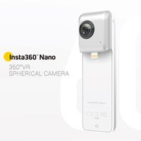 Wholesale DHL Insta360 Nano cameras Degree Panoramic Camera K HD VR Camera Dual Wide Angle Fisheye Lens Camera for ihone s