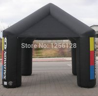 Wholesale Portable Black Advertising Inflatable Canopy Inflatable Square Tent With Fan