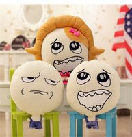 Wholesale Funny Plush Toys Stuffed Cartoon Pillows with styles Cushion Plush toy Lovely Facial pillow Doll toys