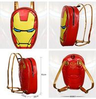 best leather backpacks - The Avengers Backpack The Avengers Kids School Bags Children Backpack Ironman Schoolbags PU Leather Cartoon kids Schoolbags Best Gift D622
