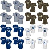 adrian gonzalez - women Corey Seager Clayton Kershaw Adrian Gonzalez Jackie Robinson Los Angeles Dodgers Baseball Jersey stitched size S XL