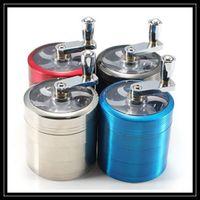 aluminum alloy mills - Metal Alloy Handle Grinder mm Grinder Herb Grinder Layer Parts Hand Mill Muller Spice Crusher Aluminum Hand Crank Grinders