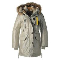 Wholesale Winter coat Beige jacket women Long down parka Double detachable Real fur hat High quality down jacket Plus size