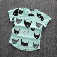 Wholesale Children Kids Girls Boys Clothes Cartoon T Shirt Batman Head Print Short Sleeve Cotton Tops O Neck Hot new brand