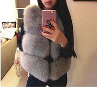 Wholesale 2016 new fur imitation fox fur vest short paragraph PU splicing Rex mink fur coat large size women