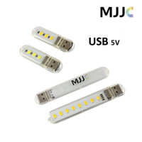 Wholesale Mini Portable Leds SMD5730 USB Night Light Book light USB Lamp Color Temperature Cool white and Warm White for Laptop Notebook