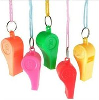 Wholesale 2016 hot sales Colorful plastic Whistle Cheap hot popular Noise maker for sport game party Christmas Lovely chic Whistles