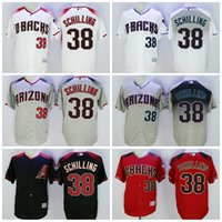 Wholesale 2016 Mix Order Arizona Diamondbacks Jerseys Curt Schilling Flexbase Baseball Jerseys Cool Base Elite Stitched Grey Green Throwback