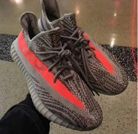 Wholesale Boost V2 Beluga Kanye West Season SPLY Orange Streaked Sneakers Running Shoes for Men and Women