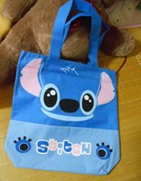 Wholesale New big size school book bag shoulder bag shopping bag B cm eco friendly Stitch blue travel bag