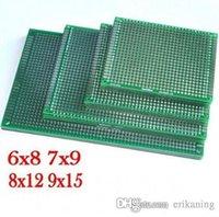 Wholesale 4pcs x8 x9 x12 x15 cm cm double Side Copper prototype pcb Universal Board for Arduino
