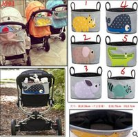 Wholesale Cartoon Stroller Storage Bags Baby Hanging Basket Stroller Organizer Polyester Animal Storage Bag Elephant Rabbit Stroller Accessories