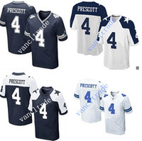 atlanta falcons jerseys - 2016 NEW Dak Prescott Cowboys blue white thanksgiving day Stitched Elite Football Jerseys Free Drop Shipping Mix Order
