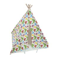 Wholesale New design small carton design Dog Bed Dog House Pet play House play teepee tent dog play bed