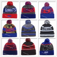 Wholesale 2016 New York Football Beanies Winter High Quality Beanie For Sale Giants Beanie American Football Cool Skull Caps Skullies Knit Cotton Hats