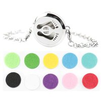Wholesale baby feet mm Magnet Aromatherapy Essential Oils Stainless Steel Perfume Diffuser Locket bracelet length8 quot include felt pads